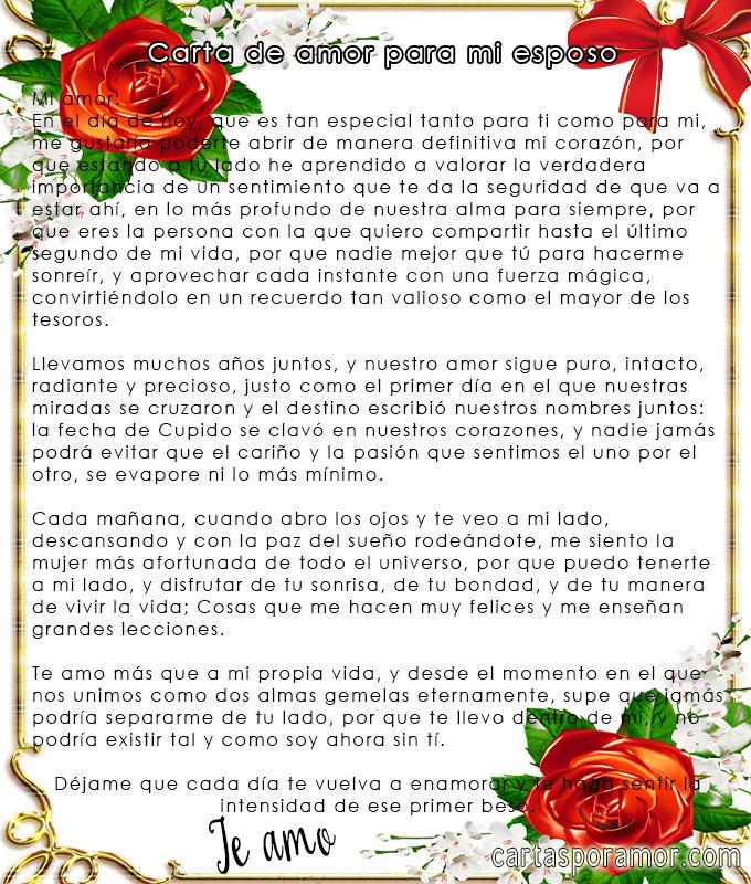 carta a mi querido esposo poemas de amor postales cartas
